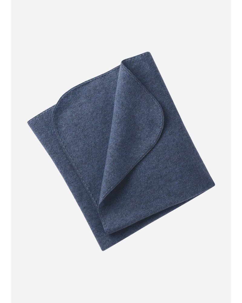 Engel Natur baby blanket - blue melange
