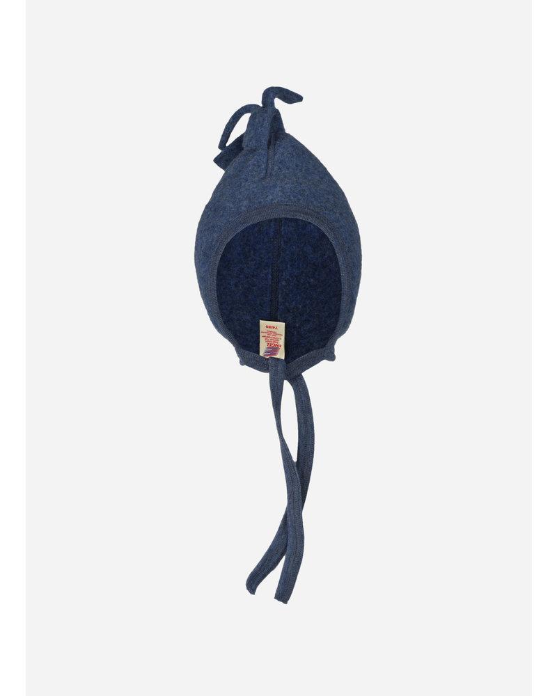 Engel Natur baby hat - blue melange