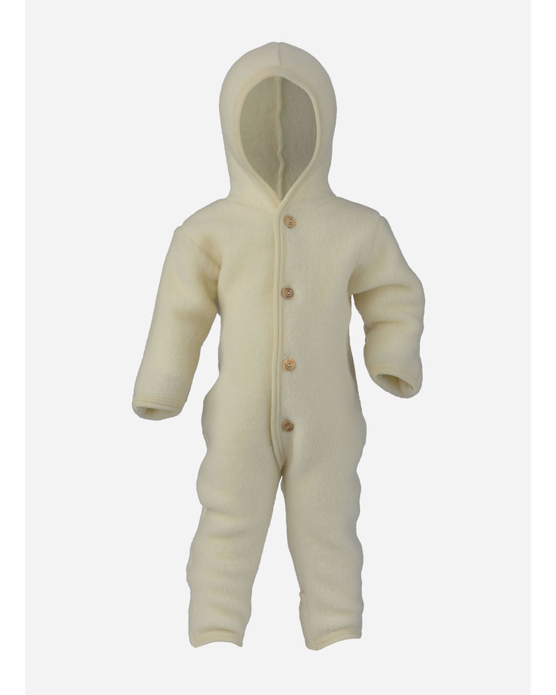 Engel Natur hooded overall - natural