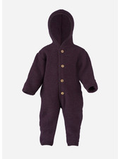 Engel Natur hooded overall - purple melange
