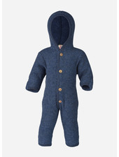 Engel Natur hooded overall - blue melange