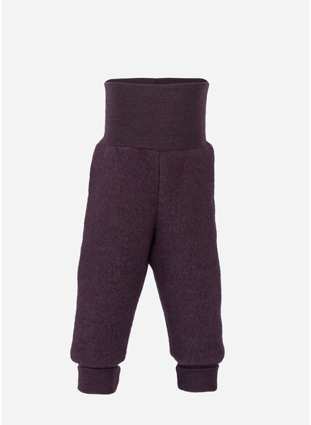 Engel Natur baby pants long with waistband - purple melange