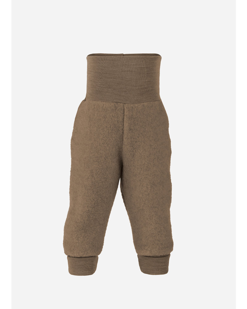 Engel Natur baby pants long with waistband - walnuss melange