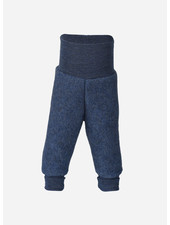 Engel Natur baby pants long with waistband - blue melange
