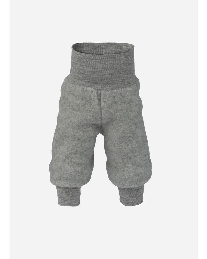 Engel Natur baby pants long with waistband - light grey melange