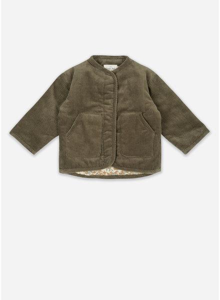Konges Slojd quilted jacket walnut