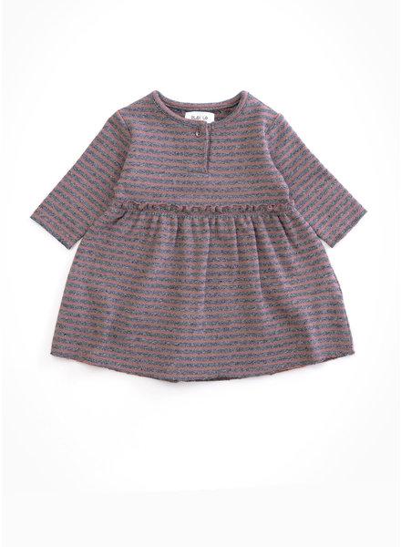 Play Up striped jersey dress - purplewood - R246B - PA02 - 2AH11452