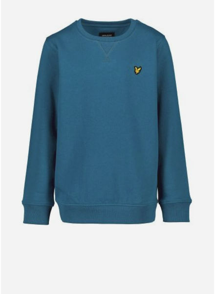 Lyle & Scott classic crew neck fleece ink blue