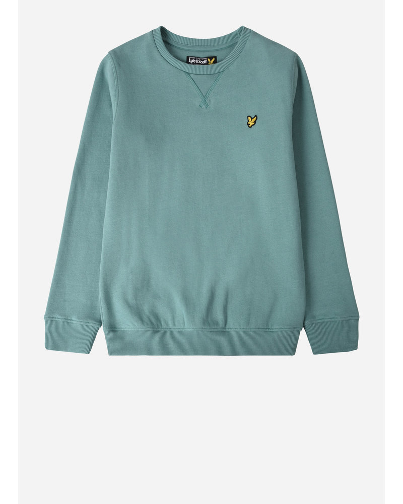 Lyle & Scott classic crew neck freece oil blue