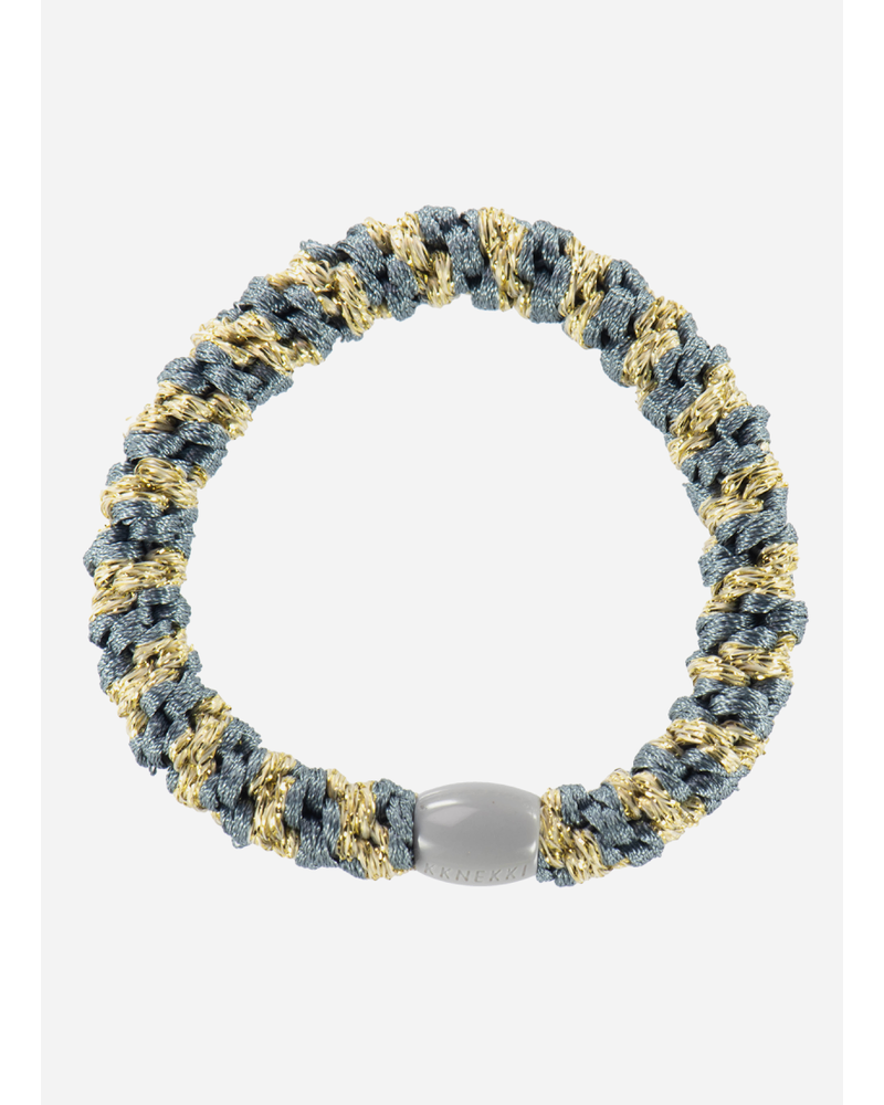 Kknekki by Bon Dep bluegrey beige glitter stripe