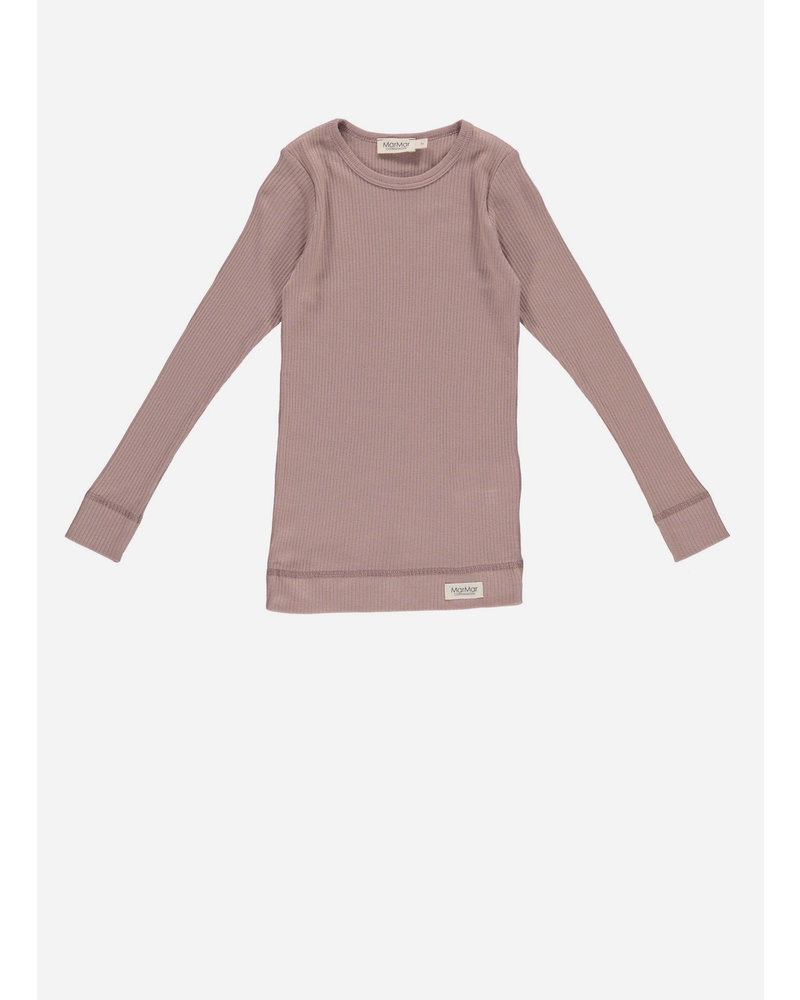 MarMar Copenhagen cs plain tee ls - rose nut
