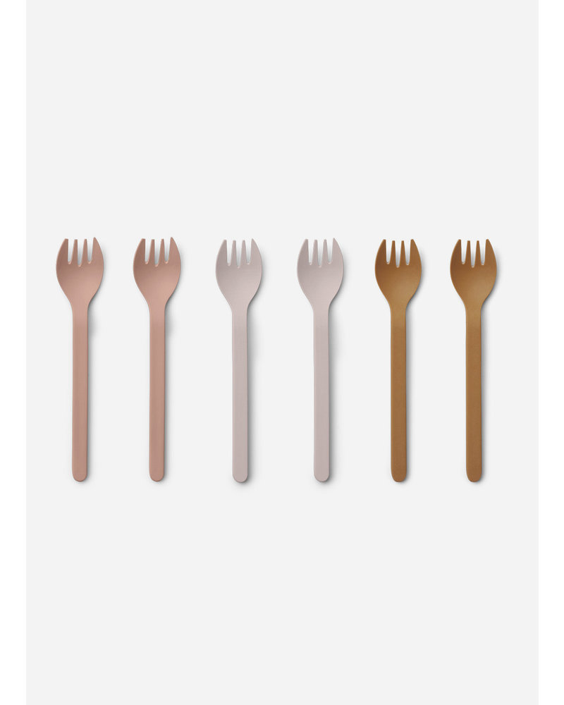 Liewood naoto fork six pack - rose multi mix