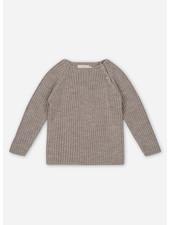 Konges Slojd toma knit blouse - paloma brown