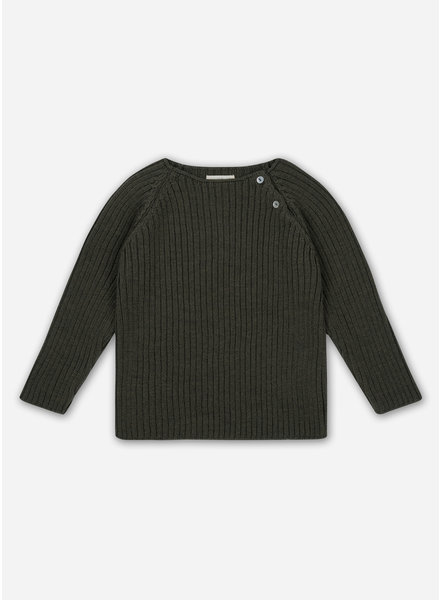 Konges Slojd toma knit blouse - walnut