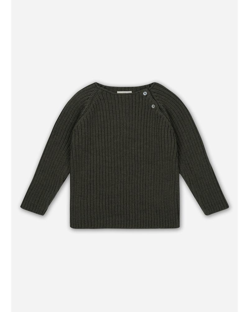 Konges Slojd toma knit blouse - walnut