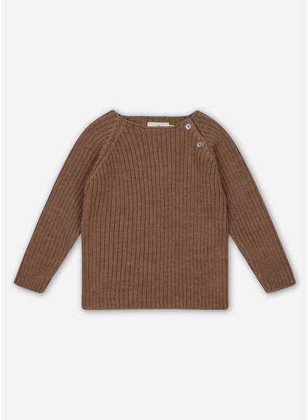 Konges Slojd toma knit blouse - almond