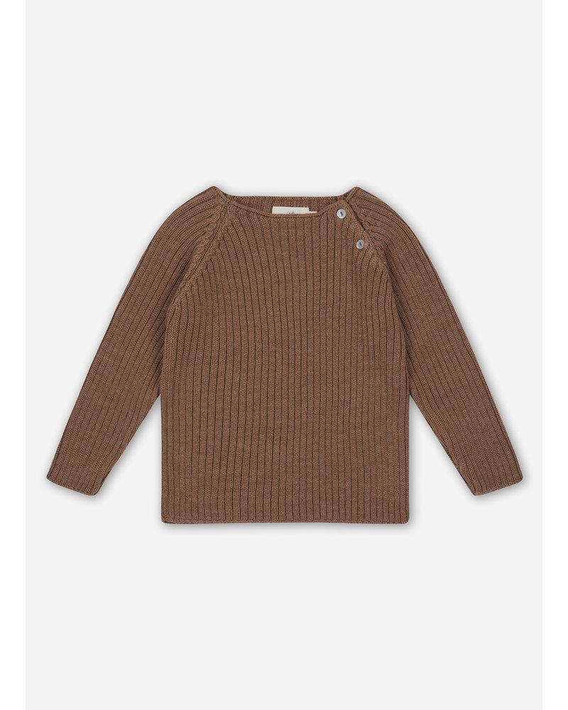 Konges Slojd toma knit blouse - almond
