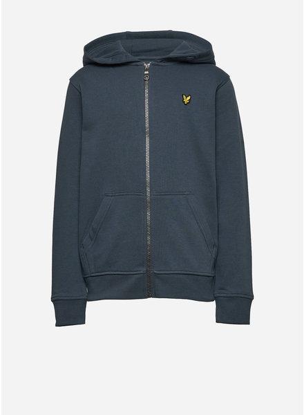 Lyle & Scott classic zip hoodie orion blue