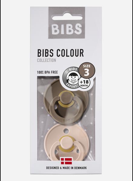 Bibs *T3 fopspeen natuurrubber dark oak - blush