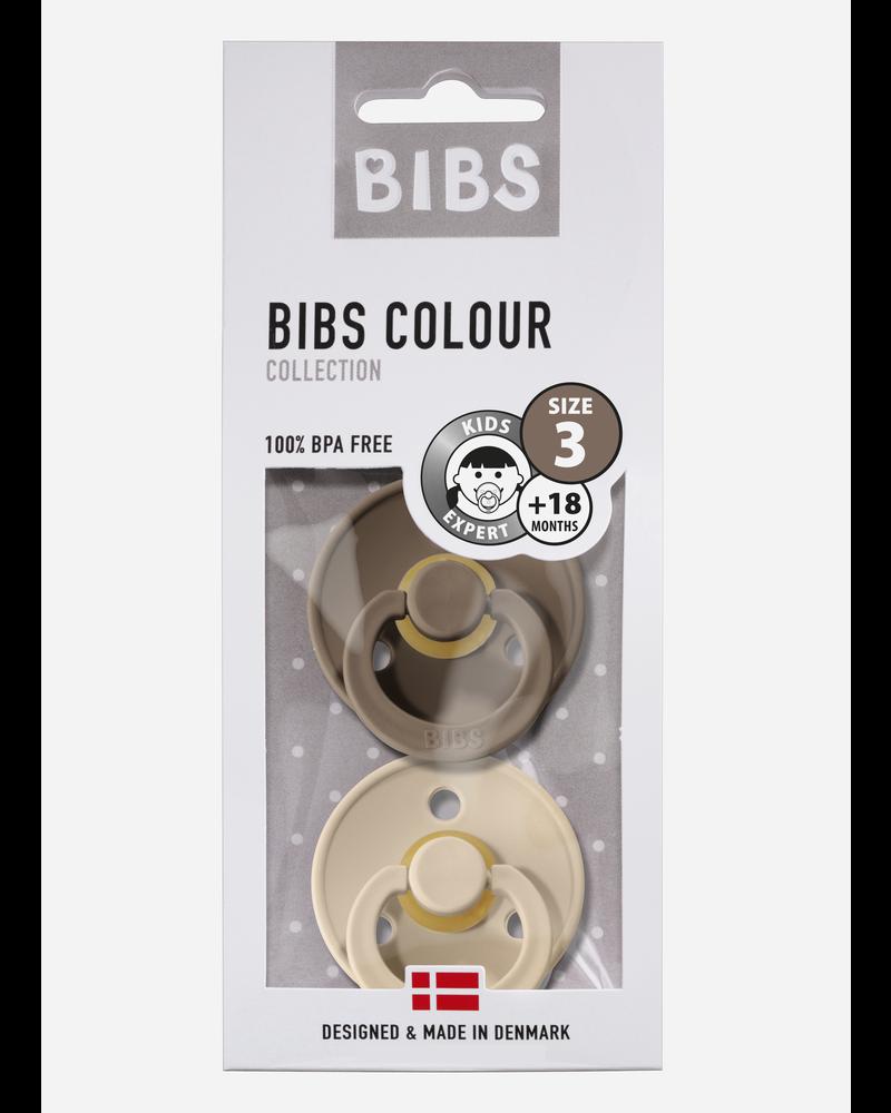 Bibs *T3 fopspeen natuurrubber dark oak - vanille