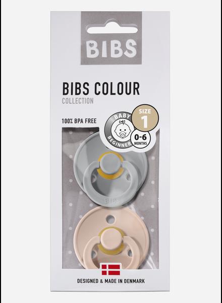 Bibs *T1 fopspeen natuurrubber cloud - blush
