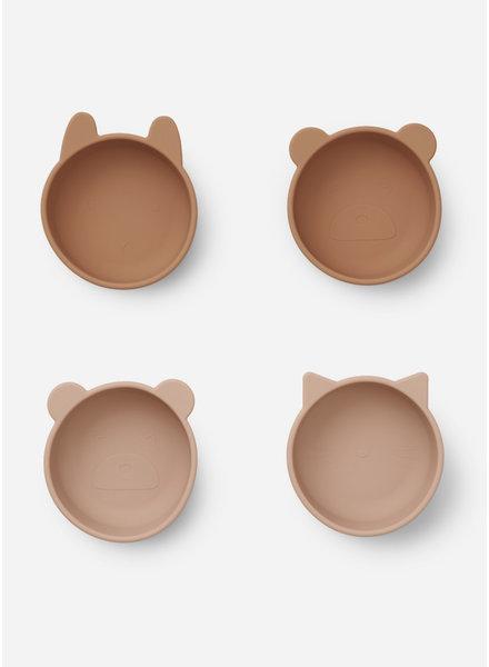 Liewood iggy silicone bowls 4 pack - tuscany rose mix