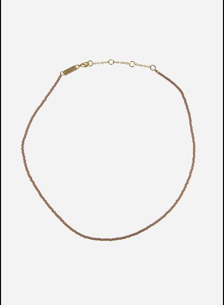 Bon Dep emilia pearl necklace old pink