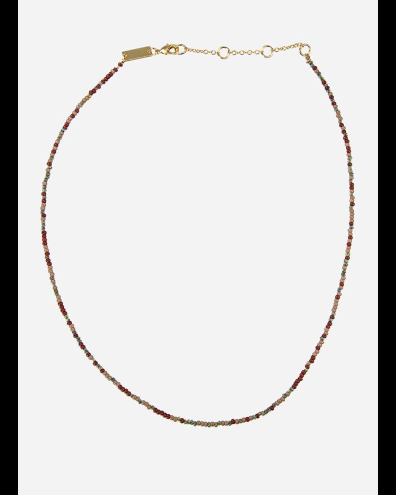 Bon Dep emilia pearl necklace dark multi