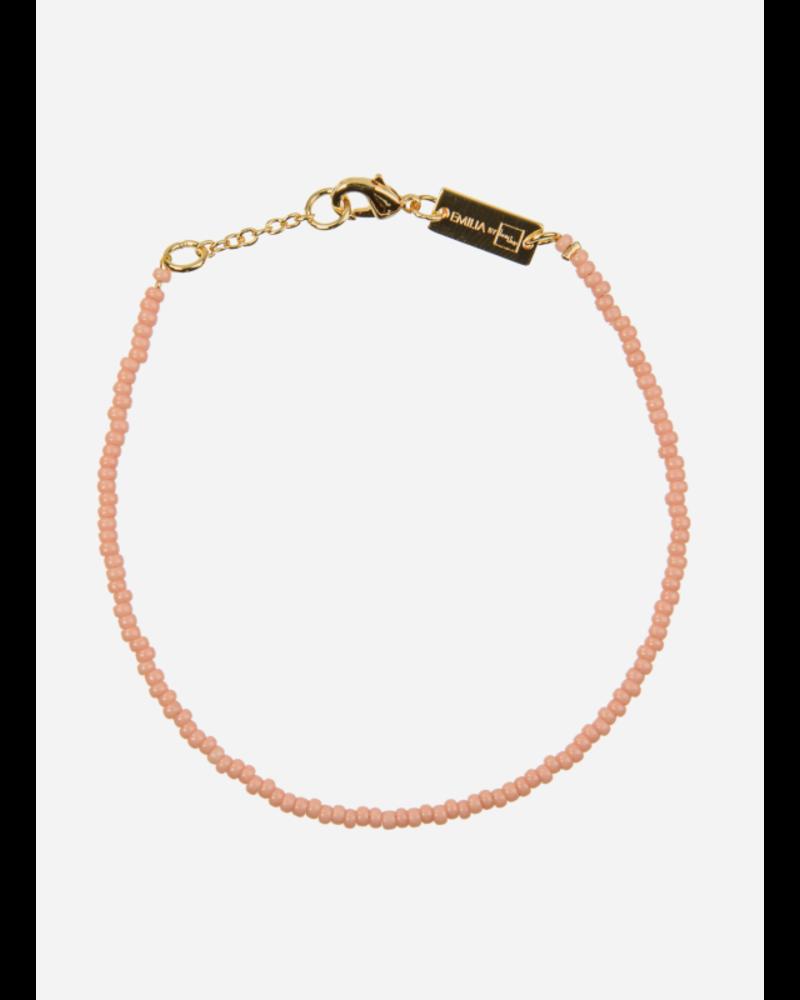 Bon Dep emilia pearl bracelet coral