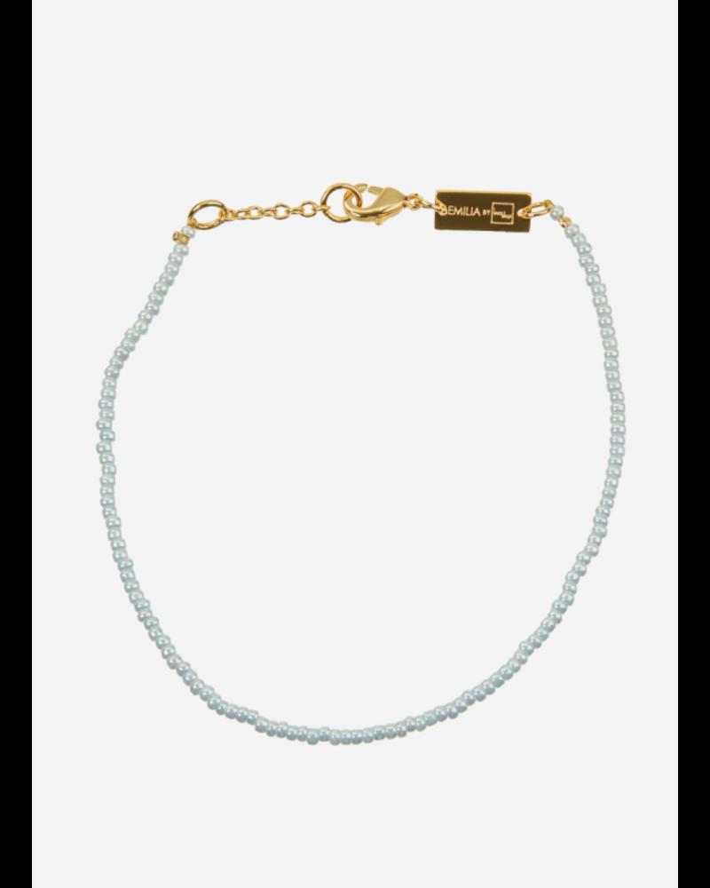 Bon Dep emilia pearl bracelet blue