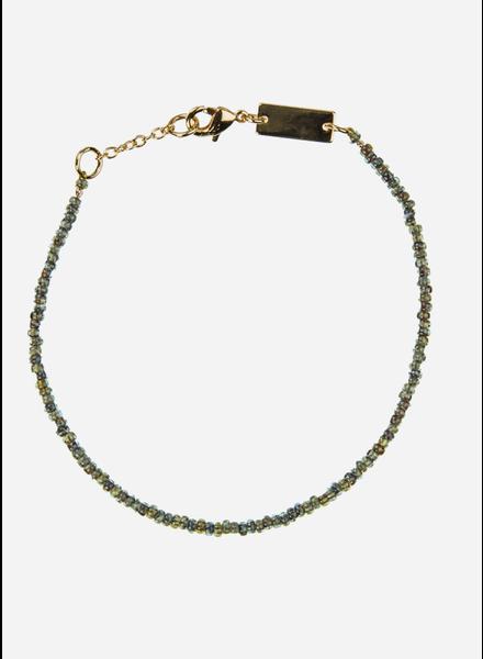 Bon Dep emilia pearl bracelet army