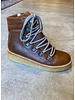 Angulus boot with laces and zipper - cognac brown