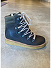 Angulus boot with laces and zipper - dark olive