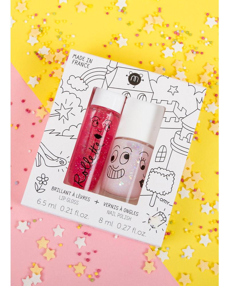Nailmatic set fairytails - lipgloss raspberry - nailpolish polly