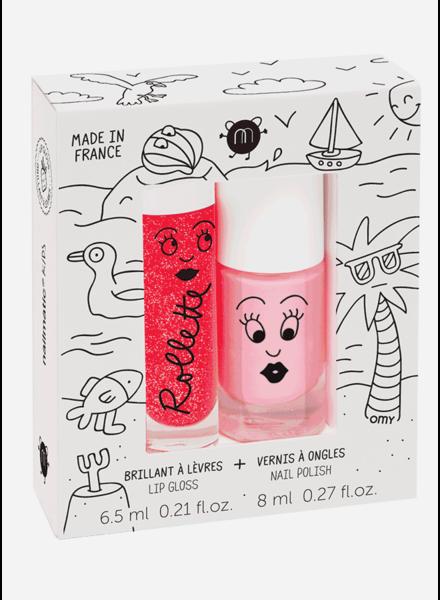 Nailmatic set holidays  - lipgloss strawberry - nailpolish cookie