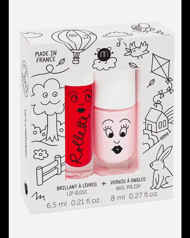 Nailmatic set kidscottage  - lipgloss cherry - nailpolish bella