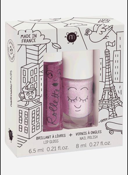 Nailmatic set lovely city  - lipgloss blackberry - nailpolish elliot