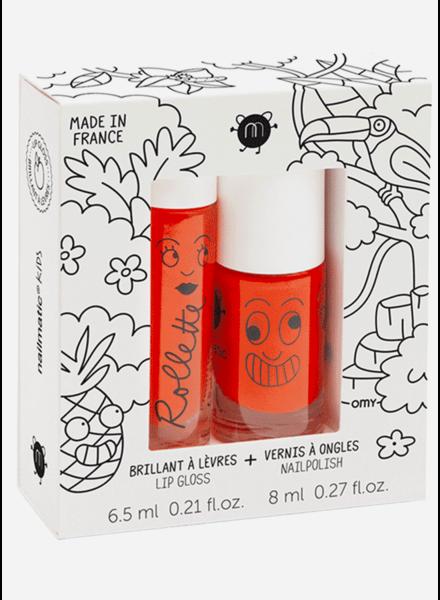 Nailmatic set tropical  - lipgloss peach - nailpolish dori