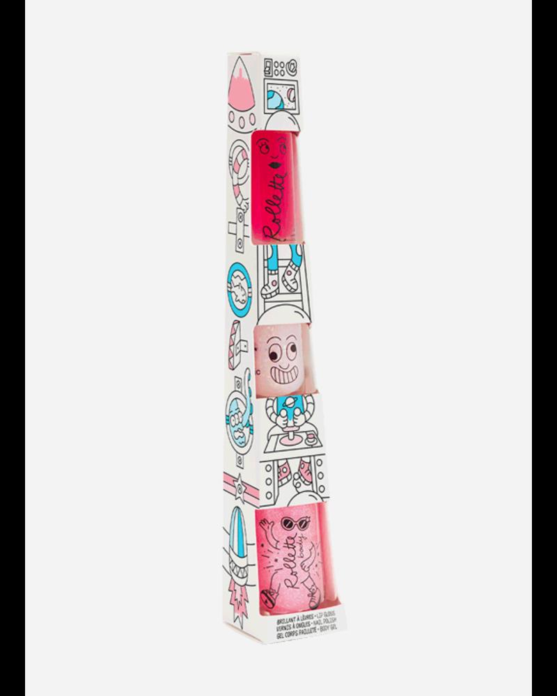 Nailmatic totem set dream rocket - raspberry lipgloss - polly - raspberry body rolette
