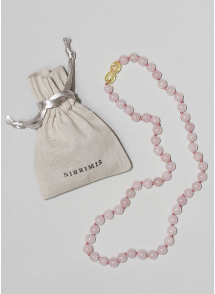 NIRRIMIS necklace rose quartz