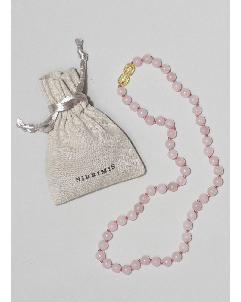 NIRRIMIS necklace rose quartz