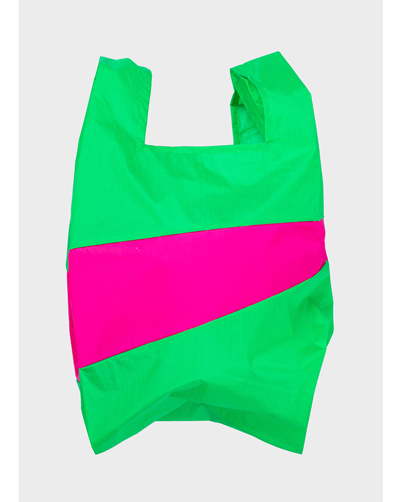 Susan Bijl shopping bag greenscreen & pretty pink,