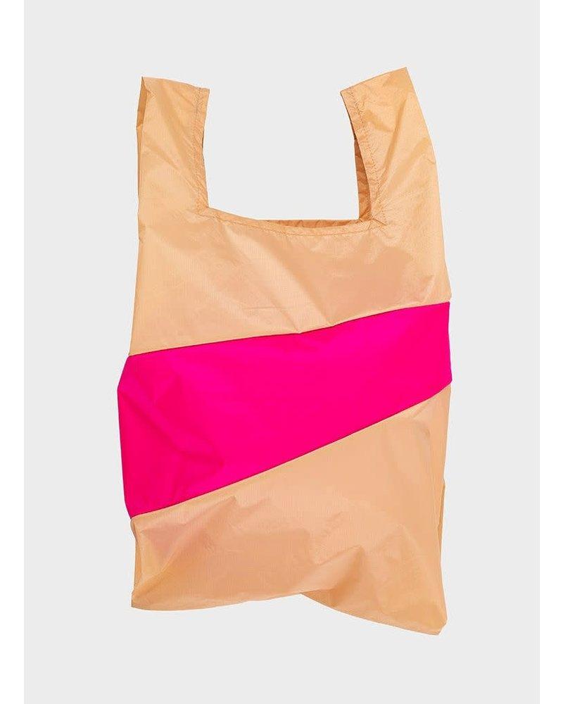 Susan Bijl shopping bag peach & pretty pink