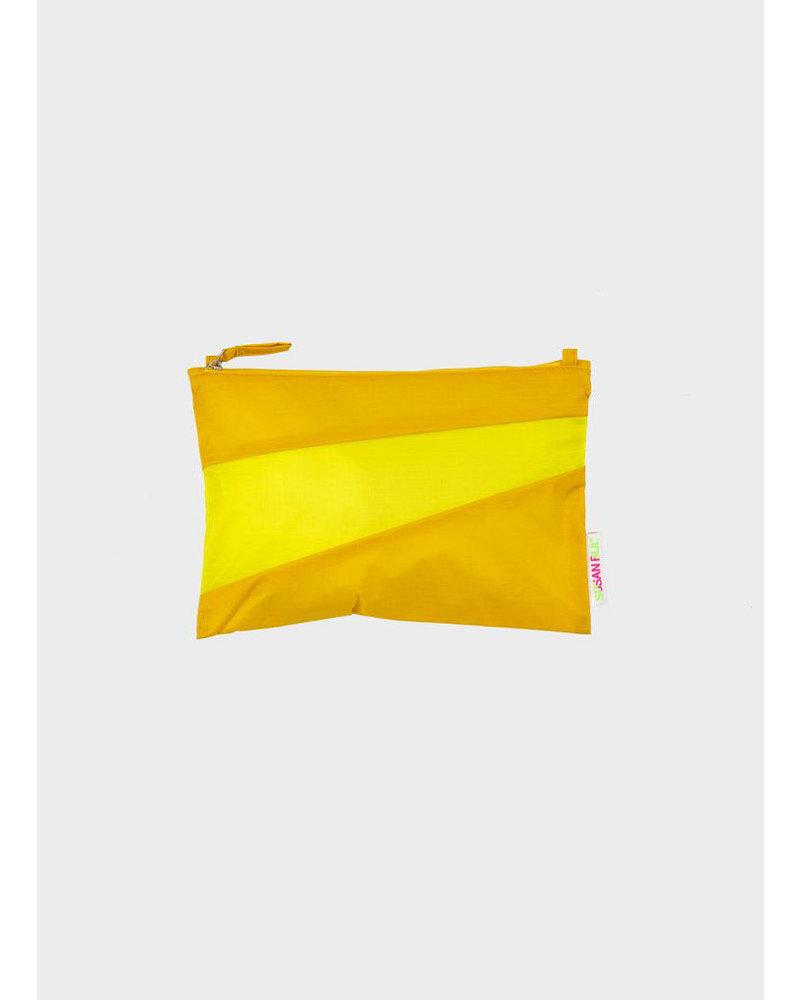 Susan Bijl pouch helio & fluo yellow