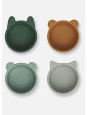 Liewood malene silicone bowl 4 pack green multi mix