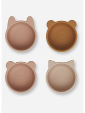 Liewood malene silicone bowl 4 pack rose multi mix