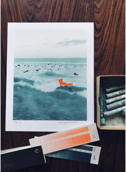 Marije Tolman vosje aan zee