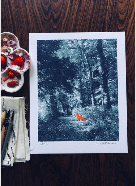 Marije Tolman vosje in het bos