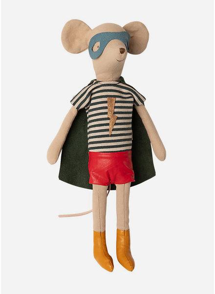Maileg super hero mouse - medium boy