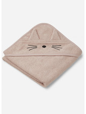 Liewood albert hooded towel cat rose